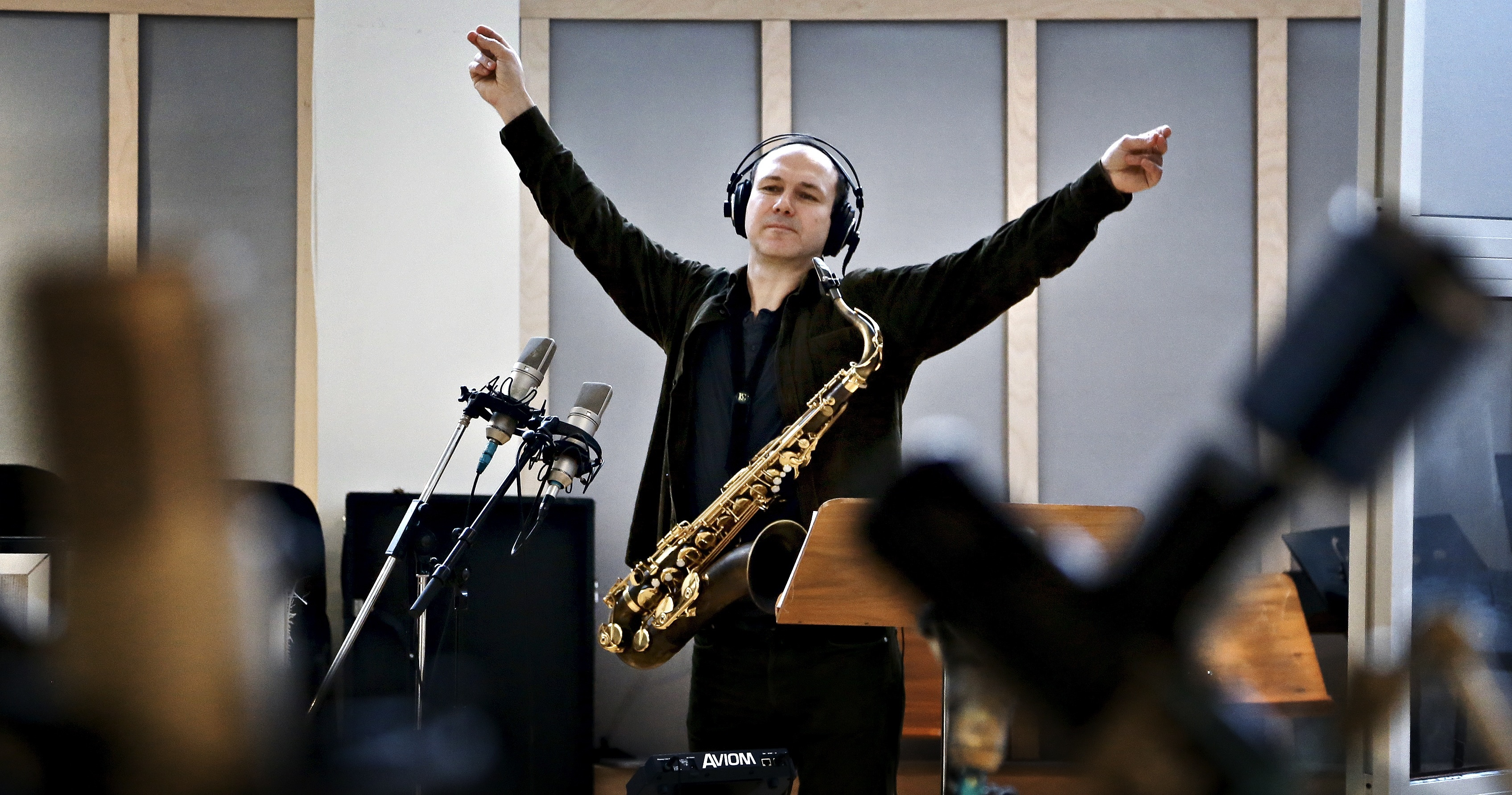 Bendik Hofseth during a 2013 Jazzcode recording at Rainbow Studio, Oslo, Norway.  Photo: Olav Olsen/Aftenposten